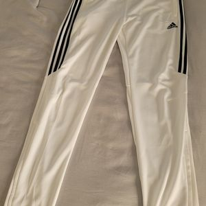 Adidas Womens Large White Track Pants